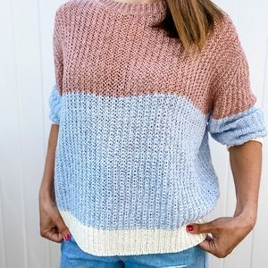 NWT Color Block Sweater